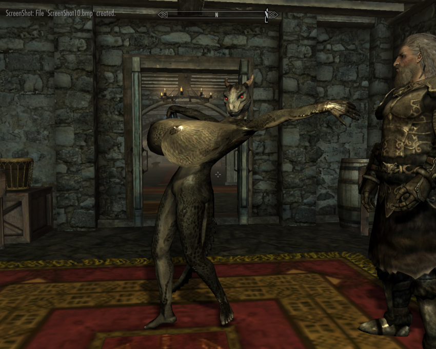 argonian big_breasts breasts huge_breasts hyper hyper_breasts mod red_eyess scalie skyrim the_elder_scrolls the_elder_scrolls_v:_skyrim video_games