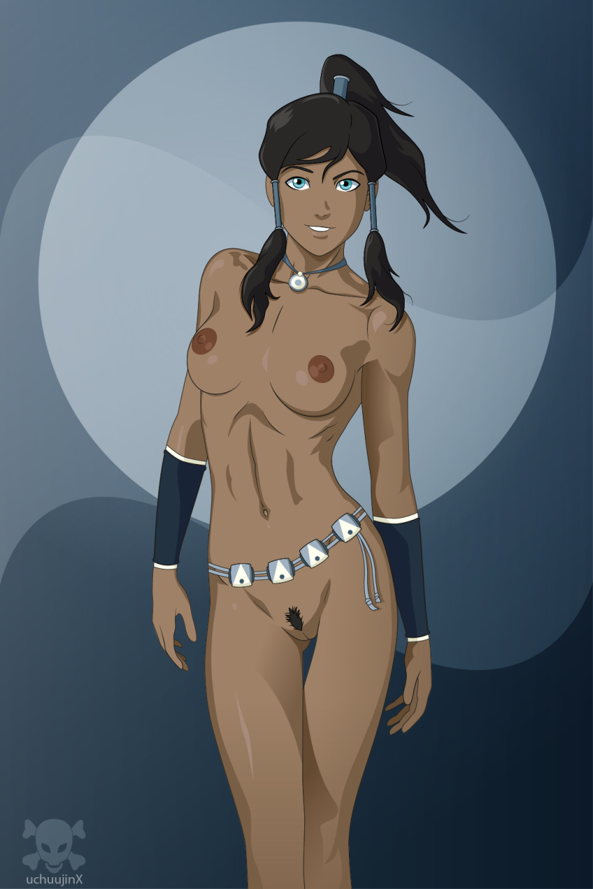 avatar_the_last_airbender breasts female female_only human korra nude pussy solo tagme the_legend_of_korra uchuujinx