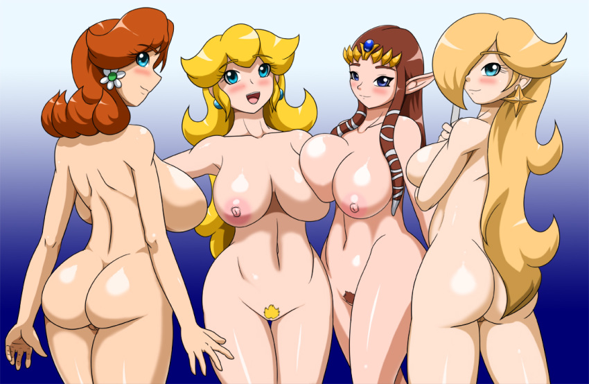 female female_only human multiple_females princess_daisy princess_peach princess_rosalina princess_zelda speeds super_mario_bros. super_mario_galaxy the_legend_of_zelda