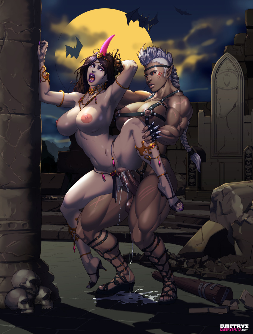 bat big_breasts club dmitrys futa_on_female futanari horn muscle necromancer rape