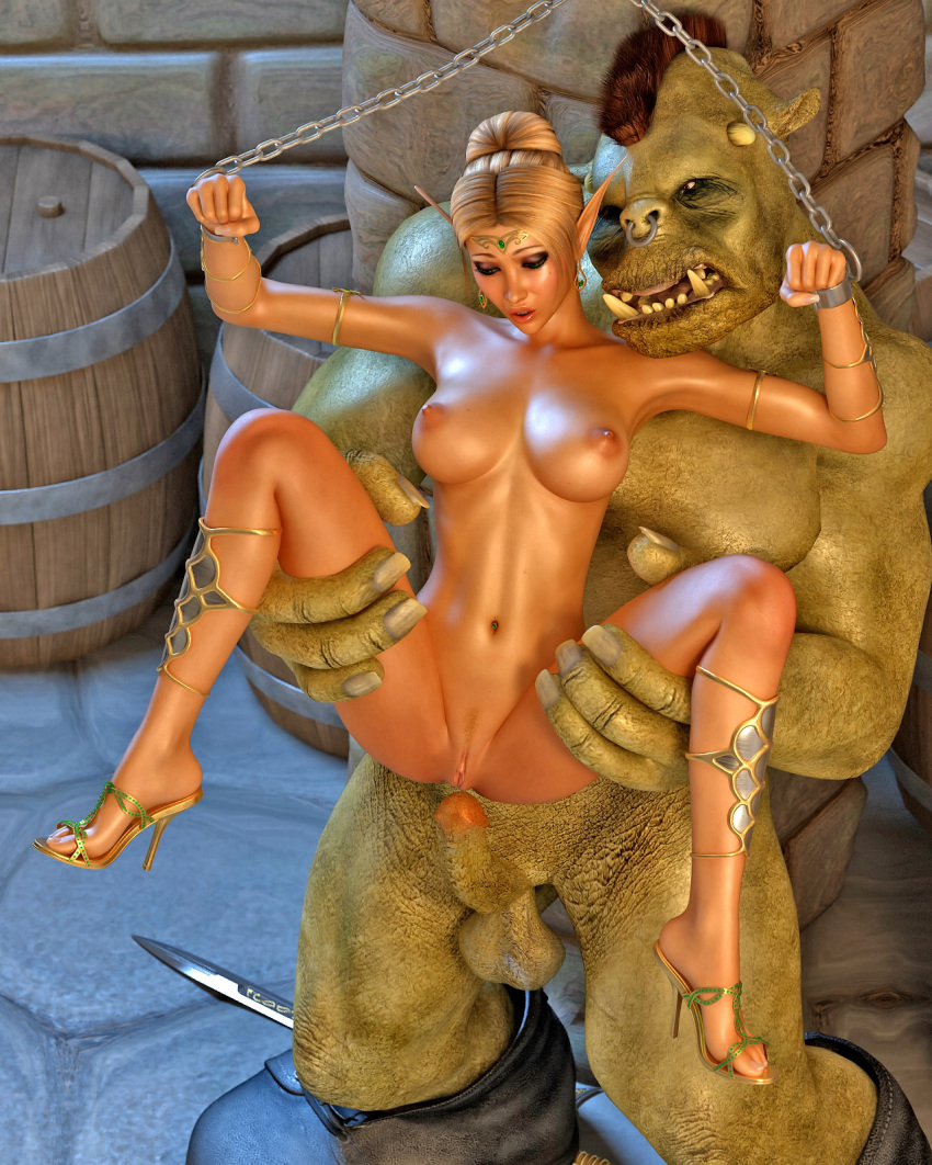 Three monsters abuse elf girl nackt images