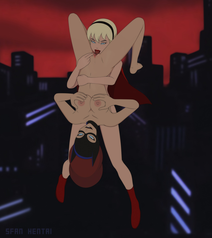 Batgirl and supergirl kiss naked you the