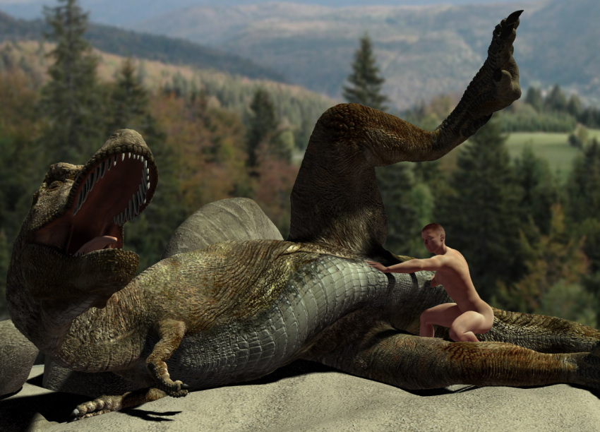 3d animal dinosaur female feral fisting human interspecies male scalie size