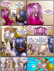 balls blood_elf breasts comic cum cumshot dialog elf english_text equine erection female feral flaccid glowing_eyes hair horn horse horsecock interspecies jaina_proudmoore male mounted night_elf nipples open_mouth orgasm penetration penis pink_eyes pink_hair sex shia shia_(artist) straight text tongue unicorn vaginal_penetration video_games warcraft world_of_warcraft zoophilia