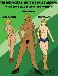 aunt bush captioned cowboy_boots cum_drip denim_shorts dripping hairy hairy_pussy high_heels incest milf mother thong tjcz
