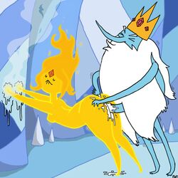 adventure_time cum doggy_style flame_princess ice_king