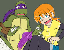april_o'neil april_o'neil_(tmnt_2012) donatello female human male rainbow-flyer straight teenage_mutant_ninja_turtles tmnt_2012