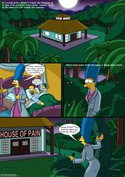 bushes comic female glowing_eyes homer_simpson jungle marge_simpson the_simpsons