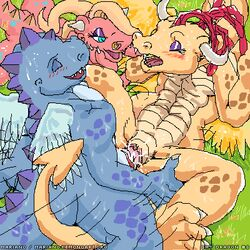 blue_dragon cassie cum dragon dragon_tales female male mariano ord penis priscilla pussy scalie sex straight wings