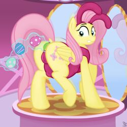 anal anal_insertion anal_sex anus back_turned bunnysuit cutie_mark easter_eggs equine feathers female fluttershy_(mlp) friendship_is_magic fur furry_only hair hooves horse inflation insertion inside long_hair looking_at_viewer looking_back magic mammal mirror my_little_pony no_humans ovapsition pegasus penetration pink_hair pony presenting pussy putinforgod raised_tail solo_focus stomach_bulge teal_eyes wings