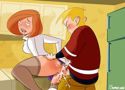 age_difference ann_possible cum_in_pussy cum_inside drool female fucked_silly human kim_possible male milf orgasm red_hair ron_stoppable saliva samasan sex stockings straight tagme vaginal_penetration