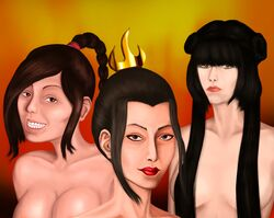 avatar_the_last_airbender azula female female_only human mai multiple_females rossowinch ty_lee