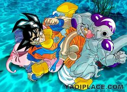 dragon_ball_z frieza majin_buu son_goku tagme yaoi
