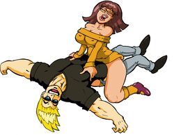 assertive cowgirl_position crossover hanna_barbera happy_sex johnny_bravo johnny_bravo_(series) scooby-doo velma_dinkley