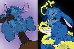 4boys anal anus balls disney erection horsecock jerseydevil lilo_and_stitch male multiple_males no_humans oral penis sparky sparky_(lilo_and_stitch) stitch tagme tail yaoi