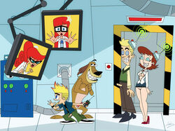 color dukey female hugh_test human johnny_test johnny_test_(character) johnny_test_(series) lila_test male mary_test multiple_males nekomate14_edited small_breasts susan_test