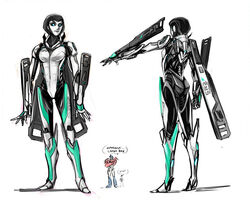 1girl ass breasts crossover female jack_darby june_darby male mass_effect optimus_prime robot robot_girl transformers transformers_prime