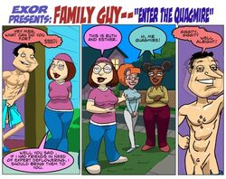 1boy 3girls age_different curvy ester_(family_guy) exoravant eyeshadow family_guy fat_mons female glenn_quagmire huge_breasts imminent_sex male medium_breasts meg_different meg_griffin ruth_(family_guy) small_breasts wide_hips