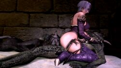 animated argonian ass balls big_ass big_penis breasts clothing female hair huge_ass interspecies isabella_valentine male noname55 open_mouth penis scalie sex skimpy straight the_elder_scrolls video_games