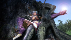 argonian balls big_penis breasts clothing female hair interspecies isabella_valentine male noname55 open_mouth penis scalie sex skimpy straight the_elder_scrolls video_games