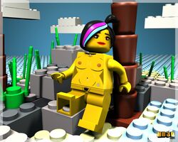 female hentai_boy lego minifigure no_humans nude the_lego_movie wyldstyle