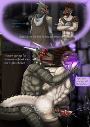 anal anal_sex argonian armor clothed clothing cum cum_in_ass cum_inside darkgoose dialog english_text erection from_behind furry_only gay handjob harness hypnosis magic male muscles no_humans nude penetration penis reach_around scalie sex text the_elder_scrolls the_elder_scrolls_v:_skyrim video_games