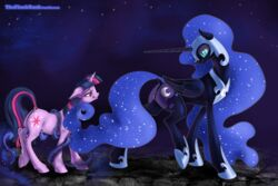2014 alicorn anus ass cutie_mark equine female feral friendship_is_magic horn horse mammal my_little_pony nightmare_moon_(mlp) pony pussy seductive smile theflankbank twilight_sparkle_(mlp) unicorn wings
