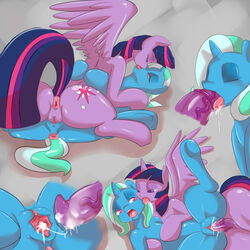 alicorn animal_genitalia anus ass cum cum_in_mouth cum_in_pussy cum_inside equine erection fearl fellatio female friendship_is_magic herm horn horse horsecock intersex mammal my_little_pony oral oral_sex orgasm penetration penis pony pussy saurian_(artist) sex tribadism trixie_(mlp) twilight_sparkle_(mlp) unicorn vaginal_penetration vaginal_penetration wings