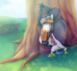 anal anal_sex avian beak cum cum_inside furry_only gay hans madagascar male open_mouth penetration penguin penguins_of_madagascar penis puffin skipper tree