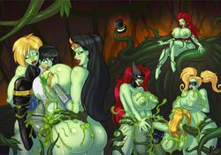 anal batwoman big_breasts big_penis black_canary black_hair blonde_hair cum_in_ass cum_in_mouth cum_in_pussy cum_on_ass cum_on_body cum_on_breasts dc double_penetration female futa_on_female futanari green_cum green_skin harley_quinn huge_breasts justice_league lip_bite lurkergg oral partially_clothed poison_ivy power_girl rape red_hair tentacles tied_up transformation vaginal_penetration vines wonder_woman zatanna