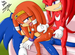 anal anal_sex anthro anus breasts double_penetration echidna female forced gangbang knuckles_the_echidna looking_at_viewer male mammal nintendo penetration penis pussy rape sega sex side_boob sonic_(series) sonic_the_hedgehog spread_legs spreading the_dark_mangaka tikal_the_echidna tribal vaginal_penetration video_games western_art