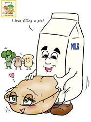 4chan blush broccoli food food_groupie from_behind fucked_silly happy happy_sex mascot melvin_milk milk milk_carton no_humans peanut personification pie sandwich sex straight vegetable