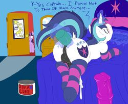 2014 anal anal_masturbation anal_sex animal_genitalia ass balls big_butt brother_and_sister cum dildo english_text equine erection fearingfun female feral friendship_is_magic horn horse horsecock male mammal masturbation my_little_pony penetration penis pony poprocks sex_toy shining_armor_(mlp) sibling text twilight_sparkle_(mlp) unicorn