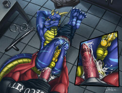 2014 anal anal_sex anthro anus armpits ass balls barefoot biceps blue_dragon chains claws close-up clothed clothing cum cum_in_ass cum_inside cum_on_balls cum_on_butt cum_on_floor cum_on_penis cup danza dragon english_text erection first_person_view gaping gaping_anus gay half-closed_eyes hand_on_butt handcuffs happy hi_res horn inside knot looking_at_viewer looking_up lying male manly muscles on_back on_floor orgasm pants pecs penetration penis red_dragon room security sex shackles sharp_claws sharp_teeth shirt sitting smile spikes table teeth text toe_claws underwear vein veiny_penis