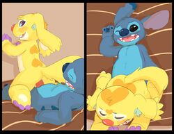 2014 alien anal anal_sex brothers duo furry furry_only gay incest lilo_and_stitch male no_humans on_top penetration penis reverse_cowgirl_position seth-iova sex sibling stitch twang_(experiment_021)