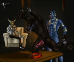 aennor anal anthro anubis anubis-kruger biscuit bondage bound canine chastity deity drooling fennec forced fox fur furry furry_only gag gay knot male mammal master no_humans non_consensual penis precum rape restrain ring_gag saliva shackles table were werewolf xander