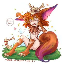 animal_ears animal_tail claws female gnar league_of_legends tail