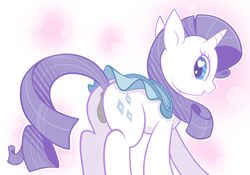 abstract_background anus arianfis ass blue_eyes braddo clitoris clothing cutie_mark equine female friendship_is_magic furry hair heart hooves horn horse long_hair looking_at_viewer looking_back mammal my_little_pony open_mouth pony presenting purple_hair pussy raised_tail rarity_(mlp) smile solo unicorn white_fur