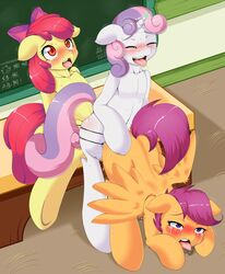 2014 apple_bloom_(mlp) average-hanzo blush bow closed_eyes crying cutie_mark_crusaders_(mlp) dildo earth_pony equine female friendship_is_magic fur group hair horn horse inside mammal my_little_pony open_mouth orange_fur pegasus pony purple_hair red_hair saliva scootaloo_(mlp) sex sex_toy strapon sweetie_belle_(mlp) tears thrusting tongue tongue_out two_tone_hair unicorn white_fur wings yellow_fur young yuri