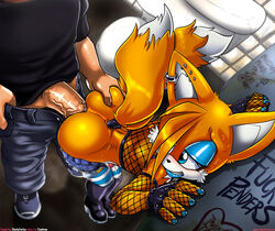 anal anal_sex ass cum cuntboy gay human intersex interspecies invalid_tag male mammal penetration penis sega sex slashysmiley sonic_(series) tails text therealshadman trap