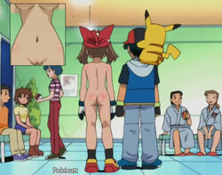 clothed_male_nude_female cmnf may_(pokemon) nude_filter pikachu pokecatt pokemon satoshi_(pokemon) uncensored
