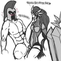 femdom league_of_legends leona pantheon pegging strap-on tagme x1x1