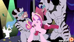 alicorn animated anthro balls breasts equine friendship_is_magic furry horsecock my_little_pony my_little_pony_'n_friends nipples nude penis princess_cadence princess_celestia pussy r!p unicorn zeb zebra