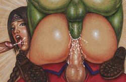 3boys anal anal_sex ass big_ass big_balls big_penis blanka boots braided_ponytail braided_twintails braids brown_boots brown_eyes brown_hair capcom clothed_male_nude_female cmnf cowgirl_position cum cum_explosion cum_in_ass cum_in_pussy cum_inside cum_overflow cumshot dat_ass double_penetration edithemad endured_face facial female foursome gangbang green_penis green_skin group_sex internal_cumshot julia_chang m_bison naked namco nude open_mouth orgy penis pussy_juice sex street_fighter street_fighter_x_tekken tekken testicles thick_penis tongue vaginal_penetration vaginal_sex veiny_penis wet