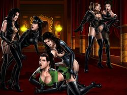 avatar_the_last_airbender azula boots catsuit corset femdom gloves kim_kardashian korra nazi strap-on the_legend_of_korra yuri