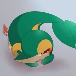 2015 ambiguous_gender animal_genitalia animated ass blush bow closed_eyes cum cum_inside disembodied_penis duo erection feral male nintendo nude open_mouth panting penetration penis pokemon raised_tail red_eyes reptile scalie sex shadow snivy tongue video_games 蒼氷ちかげ