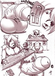 anthro balls big_balls canine cox destruction fox fur furry gideon girly growth house hyper hyper_balls hyper_penis lips macro male mammal penis uncut