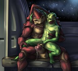 2014 4_balls abs alien arm_around_neck balls biceps big_penis black_eyes chair_position drell duo erection from_behind front_view frottage gay glans green_scales hand_on_penis huge_cock humanoid inside krogan leg_grab male mass_effect mickey_the_retriever multi_balls muscles nipples nude on_lap on_top pecs penis plantigrade precum red_eyes scales scalie sex sitting sitting_on_lap size_difference slit_pupils smile space spread_legs spreading star straddling thane_krios thick_penis toned urdnot_wrex vein video_games webbed_hands