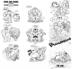 2014 abs anthro bear biceps big_dom_small_sub big_muscles breasts death_by_snoosnoo dialogue duo feline female forced gettar82 heart hyper hyper_muscles kung_fu_panda mammal master_tigress muscles muscular_female po rape size_difference stripes text tiger translation_request vein