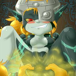 anus ass big_butt breasts fart female gas hair humanoid imp midna pussy red_eyes the_legend_of_zelda twilight_princess video_games